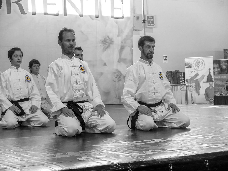 Festival dell'Oriente 2018 - Shaolin - Saluto sul palco